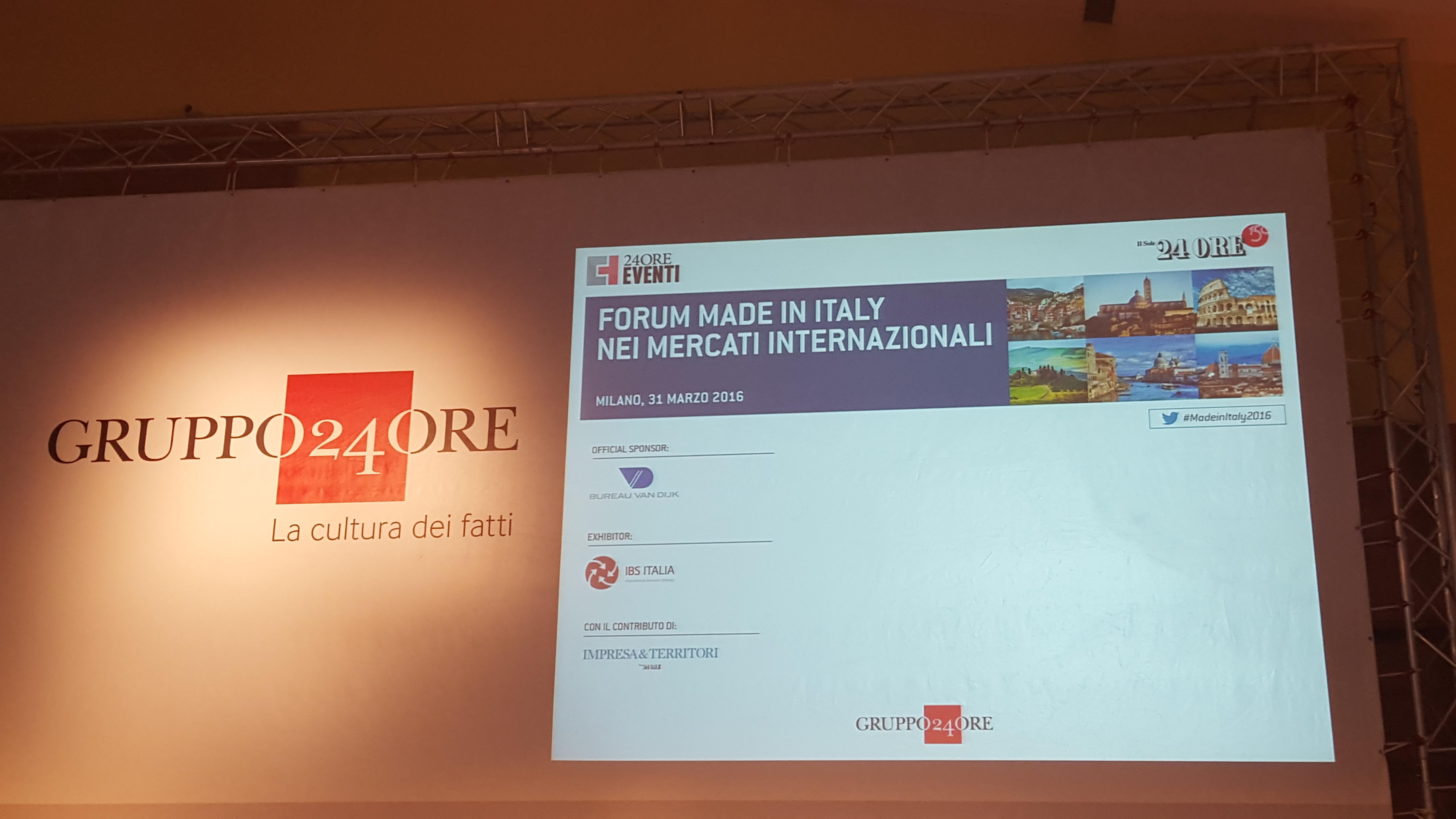 Forum Made in Italy nei mercati internazionali -