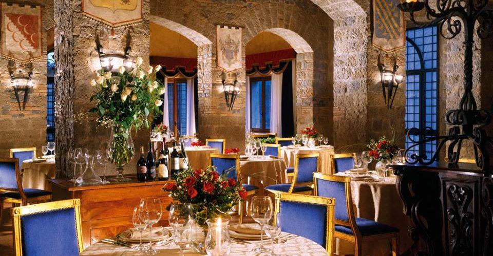 mangiare in un castello
