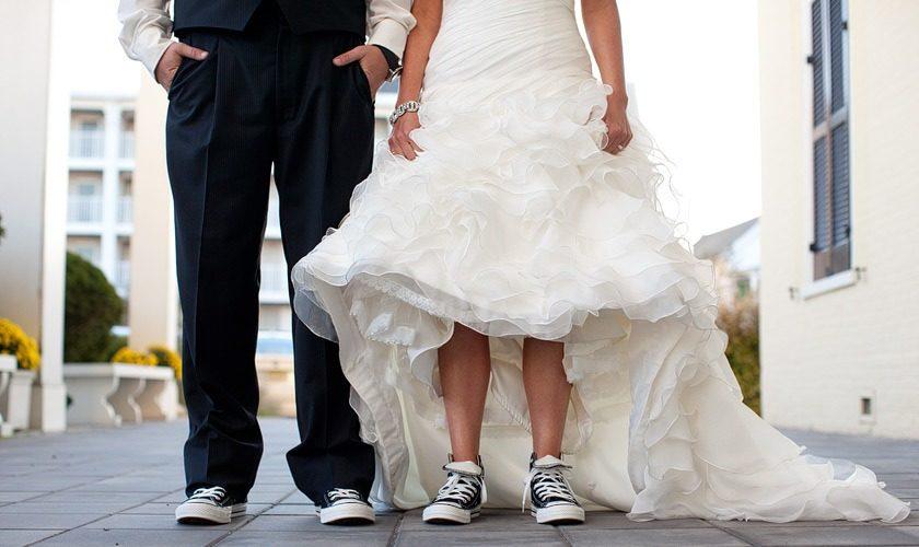 sposarsi con le sneakers sneakers alte