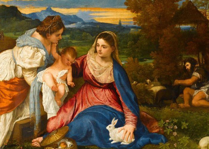 madonna dipinto tiziano arte italiana nel mondo