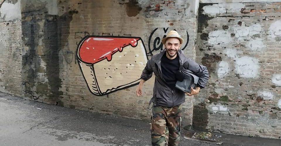 Cibo street art Italy Italia